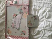 Wedding guest book & ring tray