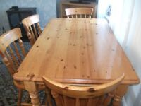 solid pine table chairs