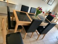 8 seat dining room table and chairs.