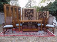 EXCLUSIVE AMERICAN LANE ALTAVISTA VIRGINIA WALNUT DINING ROOM SUITE 6 CHAIRS TABLE + OTHERS.. USA