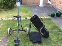 Golf trolley and carry bag