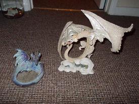 2 x Fantasy Dragon Figurines