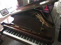 Monington and Weston, Mahogany Baby Grand Piano