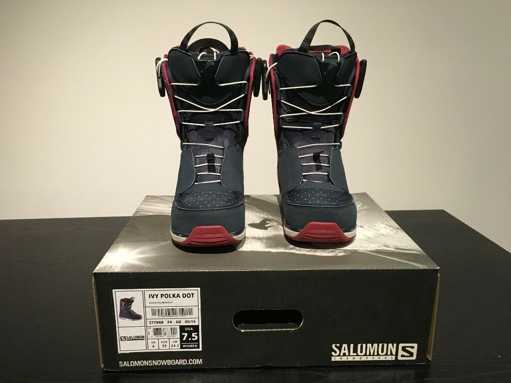 bb31f4d3e7a7 Salomon Ivy 2016 Womens Snowboard Boots Size 6 (USED)