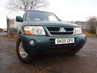 05 MITSUBISHI SHOGUN FIELD DI-D-3.2 DIESEL 4X4,MOT DEC 018,2 OWNERS,PART HISTORY,2 KEYS,LOW MILEAGE