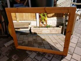 Large solid wood mirror excellent condition