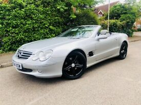 "2004/54REG MERCEDES SL 3.7 LONG MOT FULL HISTORY - LIP SPOILER - 18"" GLOSS ALLOY WHEELS"