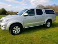 Toyota hilux invincible d-4d 4x4 dcba automatic diesel no vat fsh mot cheap car Kent
