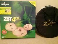 Zildjian ZBT Boxed Cymbal pack - high hats, 2 crash cymbals, ride cymbal
