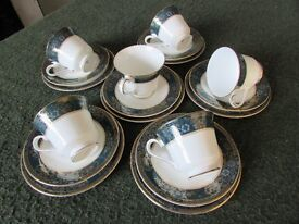 Royal Doulton Carlyle 5018 Fine Bone China trio, Cup, Saucer & Side Plate, Set Of Six £65 Blurton