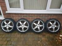 """Alloy Wheels 17"""" (4 stud) with nearly new Tyres"""