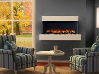 Runswick Wall Mounted LED Electric Fireplace E120R