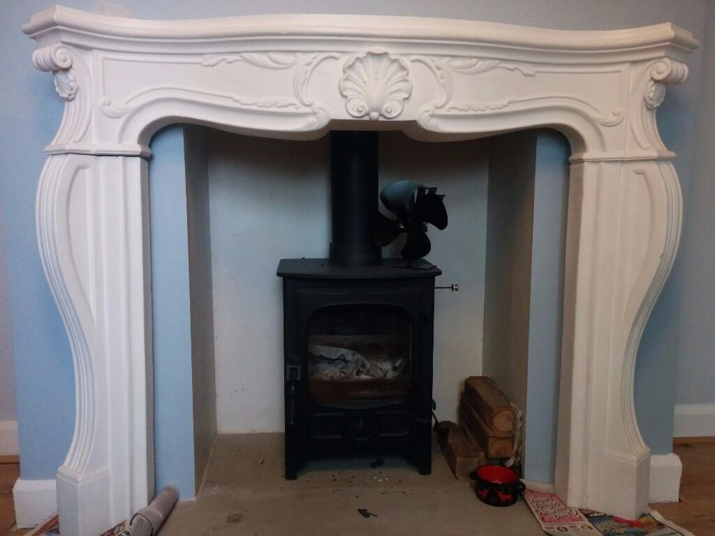Plaster fire surround - Grand French Louis