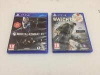 Mortal Kombat XL & Watch Dogs PS4 Games