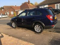 Chevrolet Captiva immaculate condition private numberplate being taken off seven seats