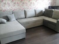 Large corner sofa bed - 2 weeks old