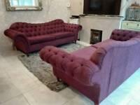 Used handmade chesterfield sofa set