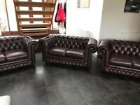 Chesterfield LeAther sofas x3 Thomas Lloyd
