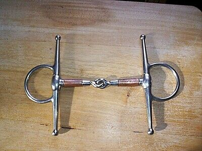 NEW HORSE TACK!! Showman Stainless Steel Curb Bit w// Copper Roller Port Mouth!