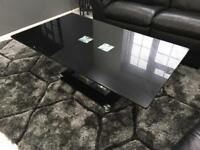 Black tampered glass coffee table in excellent condition rrp 500