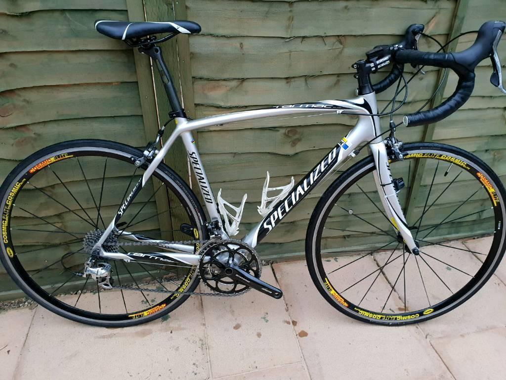 Specialized Tarmac Fact Composite Carbon Fibre 54cm Road Bike Cosmic 105 10 Speed