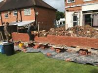 Extension, Brickwork, Garden wall, Paving