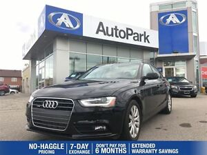 2013 Audi A4 2.0T/BLUETOOTH/LEATHER HEATED SEATS/SUNROOF/ALLOYS