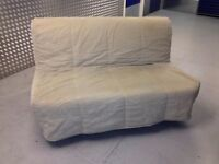 Ikea LYCKSELE Padded Double Futon Sofa Bed Cover in BEIGE. For The 2 Seater Sofabed. COVER ONLY