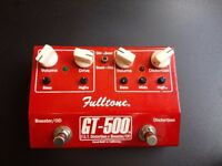 Fulltone GT 500 Guitar Distortion/Overdrive/Boost Pedal. Handmade top quality pedal