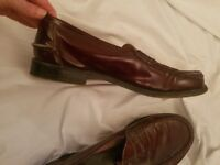 Mens Church Shoes Loafers Burgundy Size 10