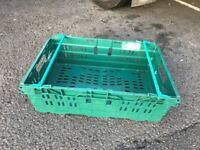 10 X SUPERMARKET STYLE TRAY WITH BAIL ARM