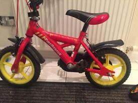 Boys First Bike 12 inch with stabilisers