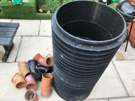 Manhole risers and various bends