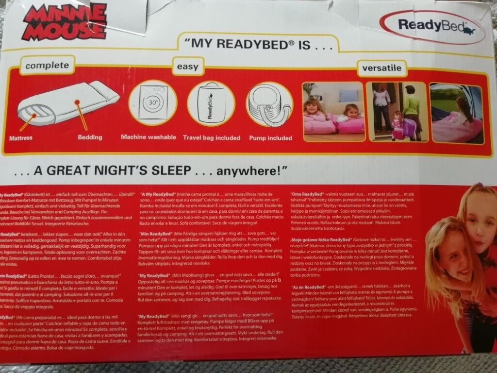 Minnie Mouse Stoel : Minnie mouse junior readybed in county antrim gumtree