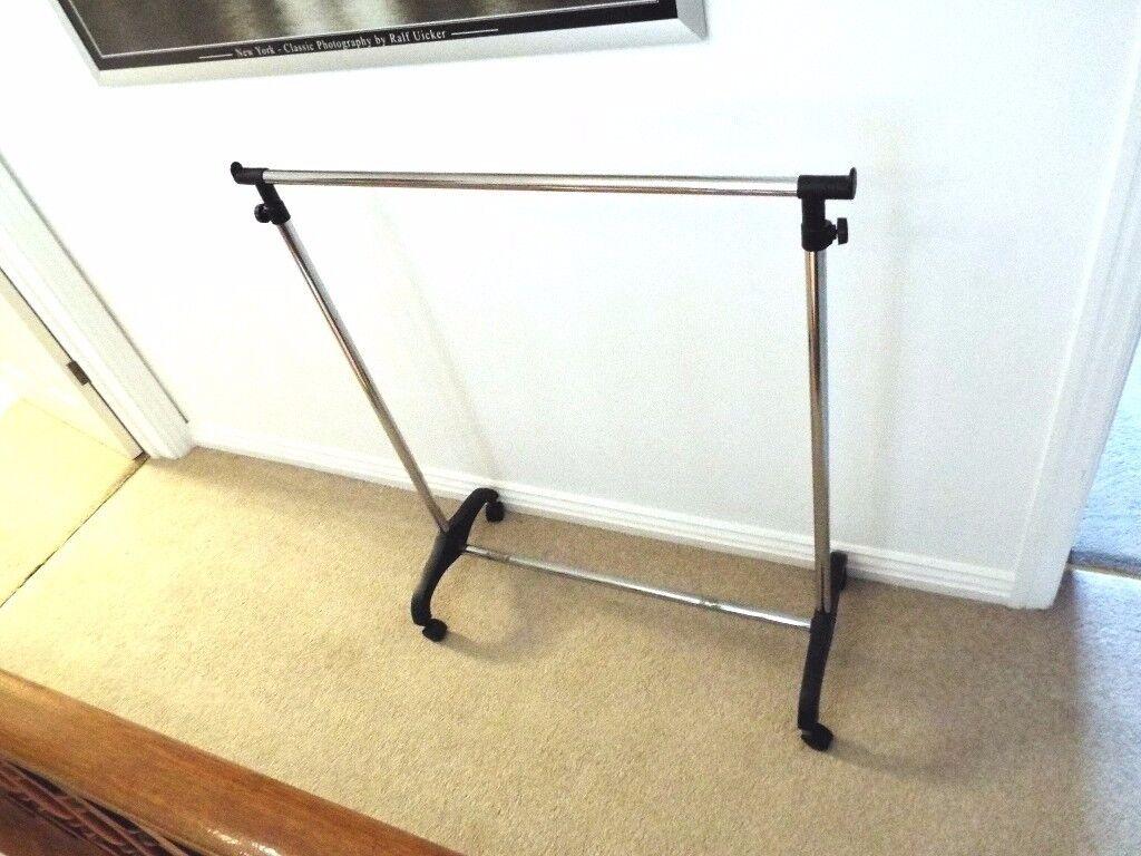 Garment Rack Clothes Adjustable Portable Hanging Rail