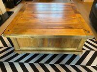 Oak Furnitureland coffee table with storage