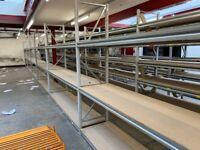 JOB LOT heavy duty apex industrial long span shelving as new.. ( pallet racking , storage)