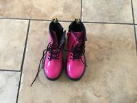 Pink girl's Dr Martin boots