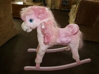 PINK GIRLS ROCKING HORSE in NICE CONDITION ONLY £10