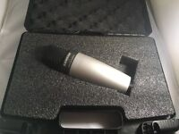 2x Microphones, pop screen, USB Mixer and a phantom power supply for sale.