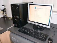 hp computer pc compaq microsoft office 500gb hardrive monitor keyboard mouse