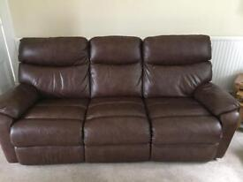 Two leather couches