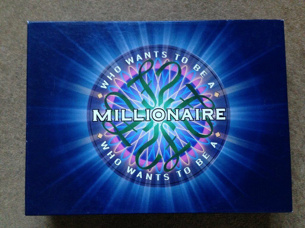 Who Wants To Be A Millionaire board game. 100% complete in excellent condition.