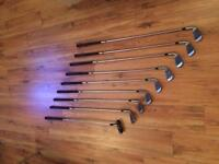 Howson golf clubs with bag