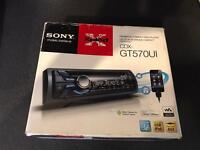 Sony stereo with front USB and aux port