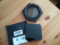 10 stop neutral density (10 ND) filter with holder system and circular polariser filter