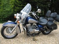Honda Shadow VT750.. Metallic Blue and Silver ,