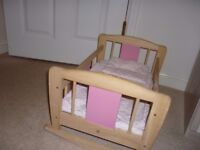 Children's doll cot