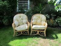 Two cane chairs in good condition. Would separate.