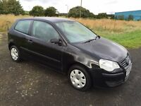 2006 VOLKSWAGEN VW POLO 1.2E 3DR - BLACK - FULL YEARS MOT - 91k - IDEAL FIRST CAR - CHEAP INSURANCE